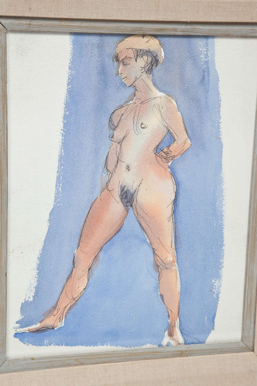 American Painting by Barbara Pound, circa 1960 For Sale