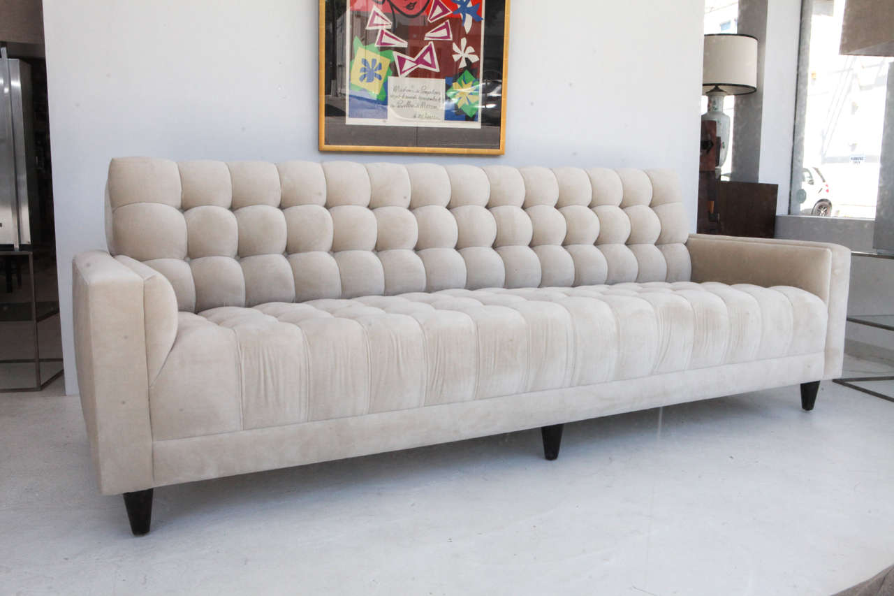Custom Biscuit Tufted Sofa By William Haines At 1stdibs