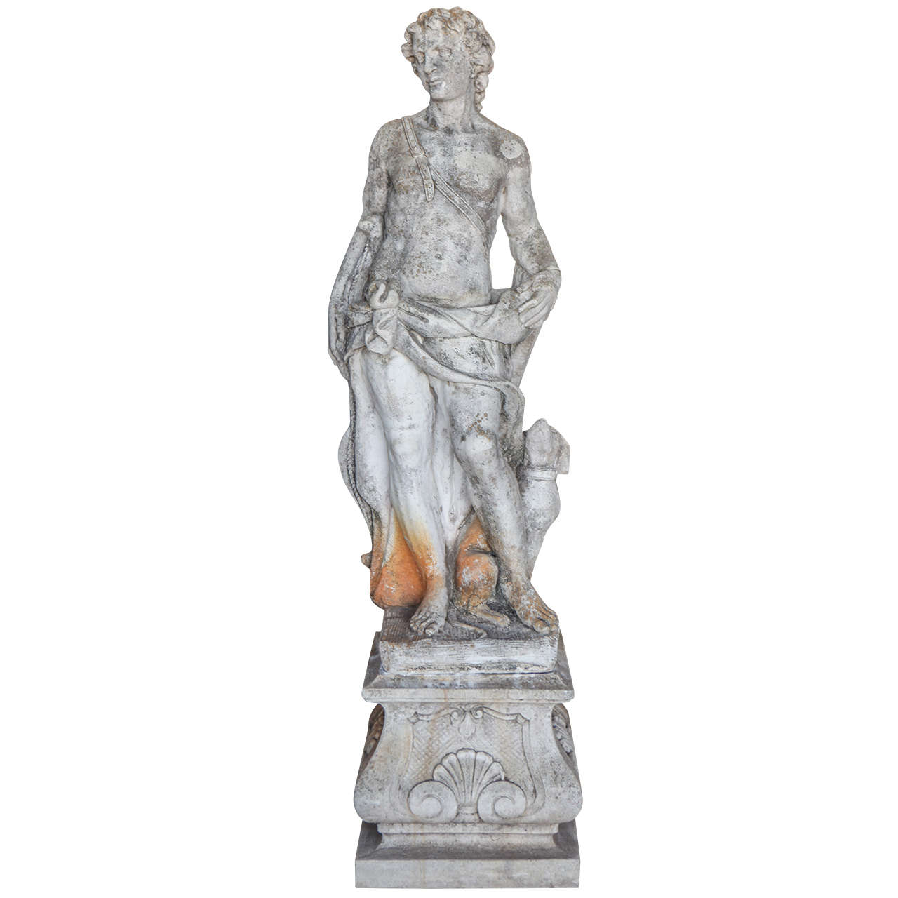 Pair Of Cast Stone Male And Female Statues At 1Stdibs-5849