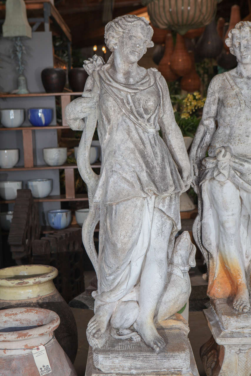 Pair Of Cast Stone Male And Female Statues At 1Stdibs-5737