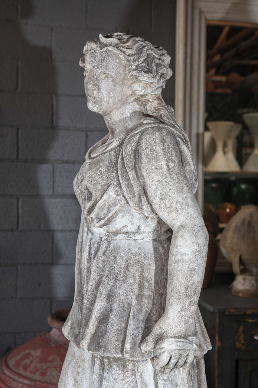 Pair Of Cast Stone Male And Female Statues At 1Stdibs-4692