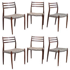 Moller Model #78 Rosewood Chairs