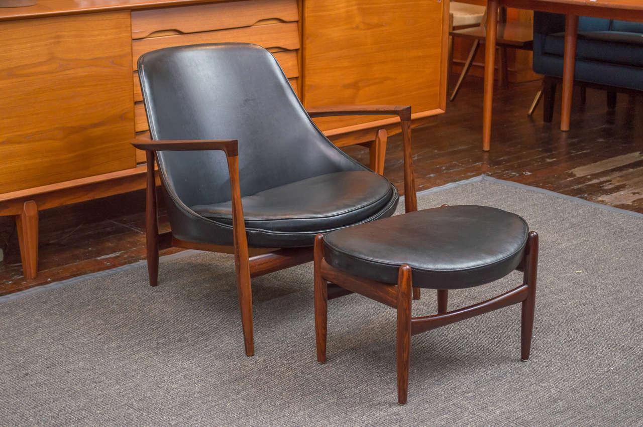 Ib Kofod-Larsen Elizabeth Lounge Chair and Ottoman 2