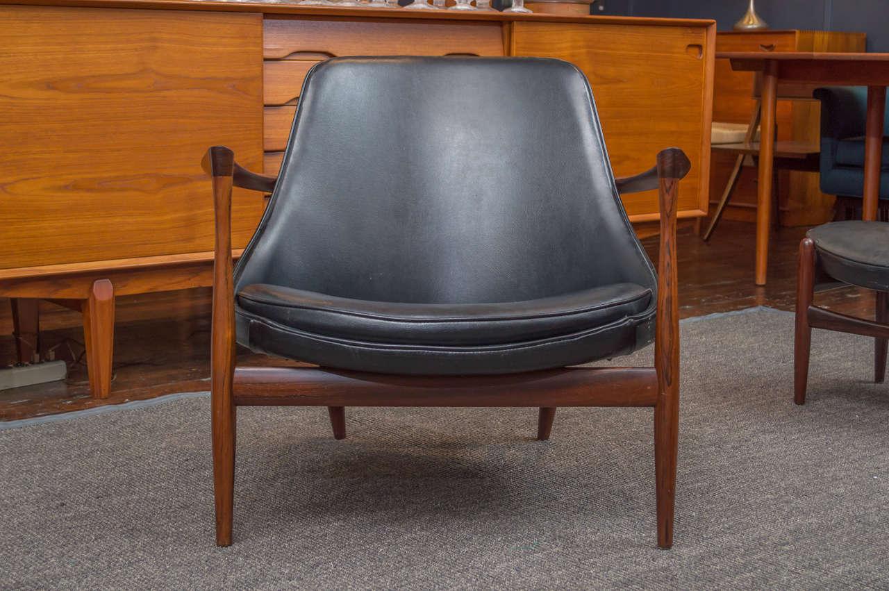 Ib Kofod-Larsen Elizabeth Lounge Chair and Ottoman 4