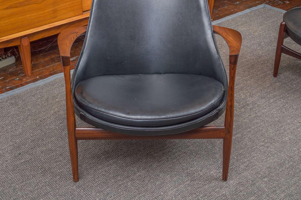 Ib Kofod-Larsen Elizabeth Lounge Chair and Ottoman 5