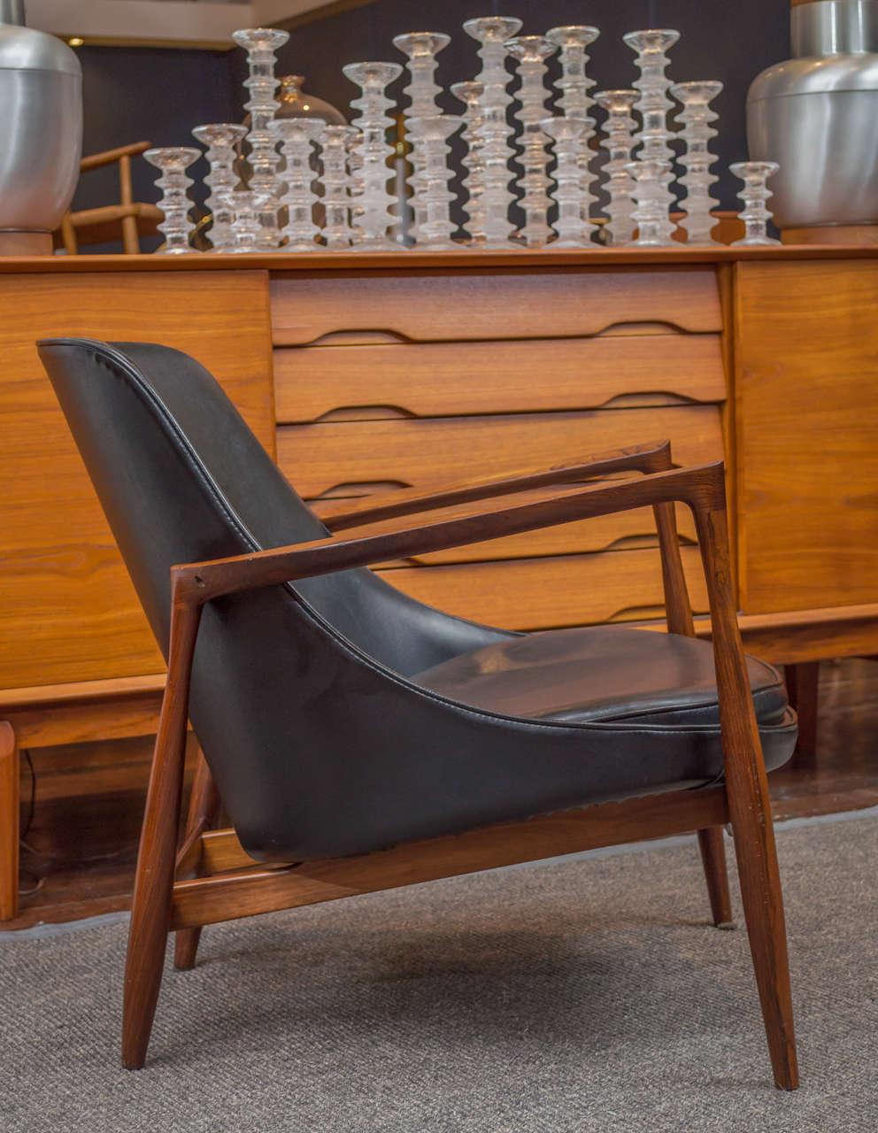 Ib Kofod-Larsen Elizabeth Lounge Chair and Ottoman 6