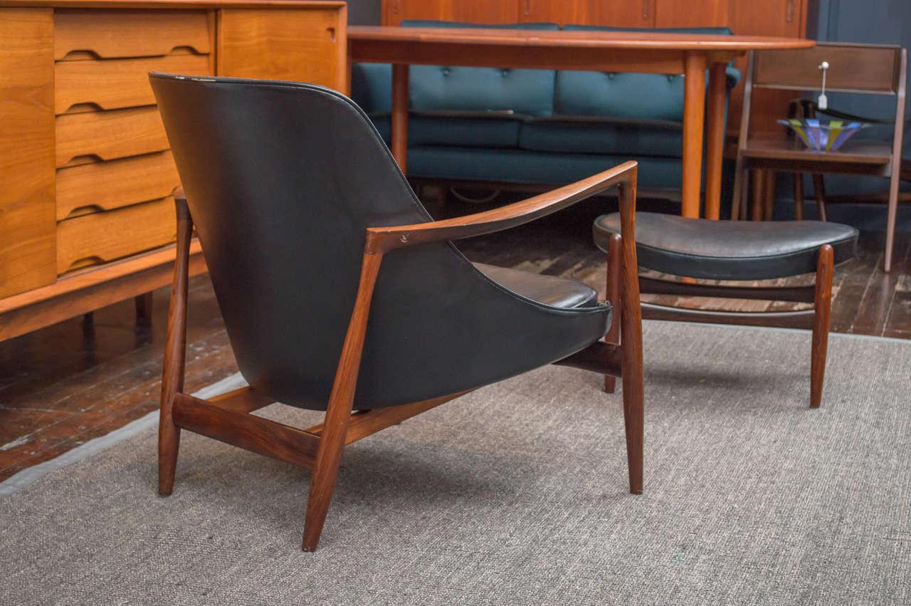 Ib Kofod-Larsen Elizabeth Lounge Chair and Ottoman 7