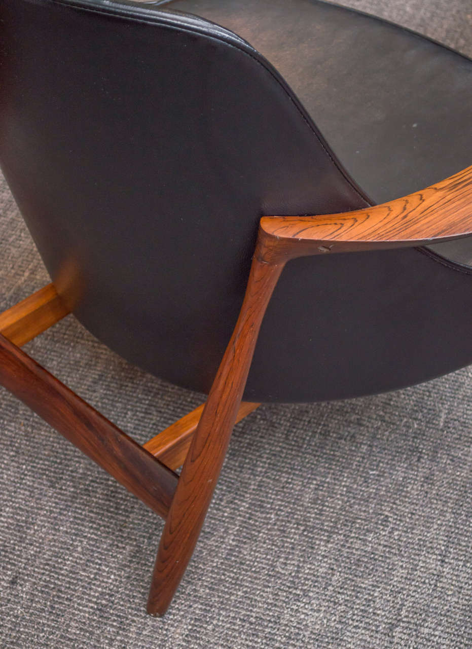 Ib Kofod-Larsen Elizabeth Lounge Chair and Ottoman 8