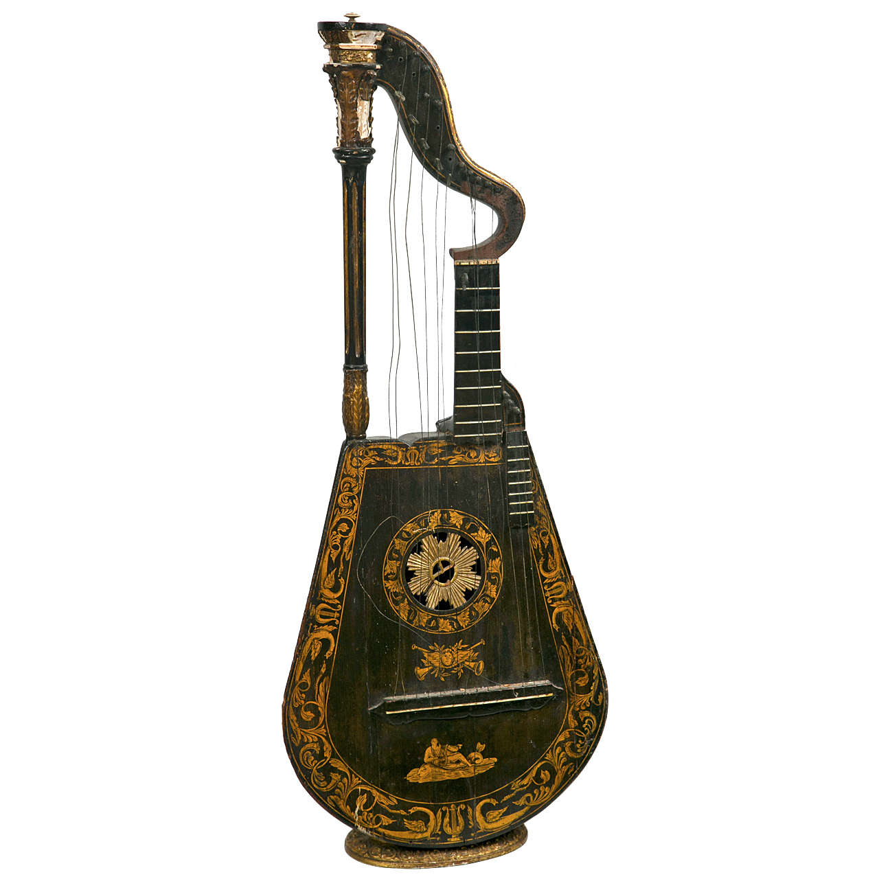 19th Century Harp Lute Edward Light For Sale At 1stdibs