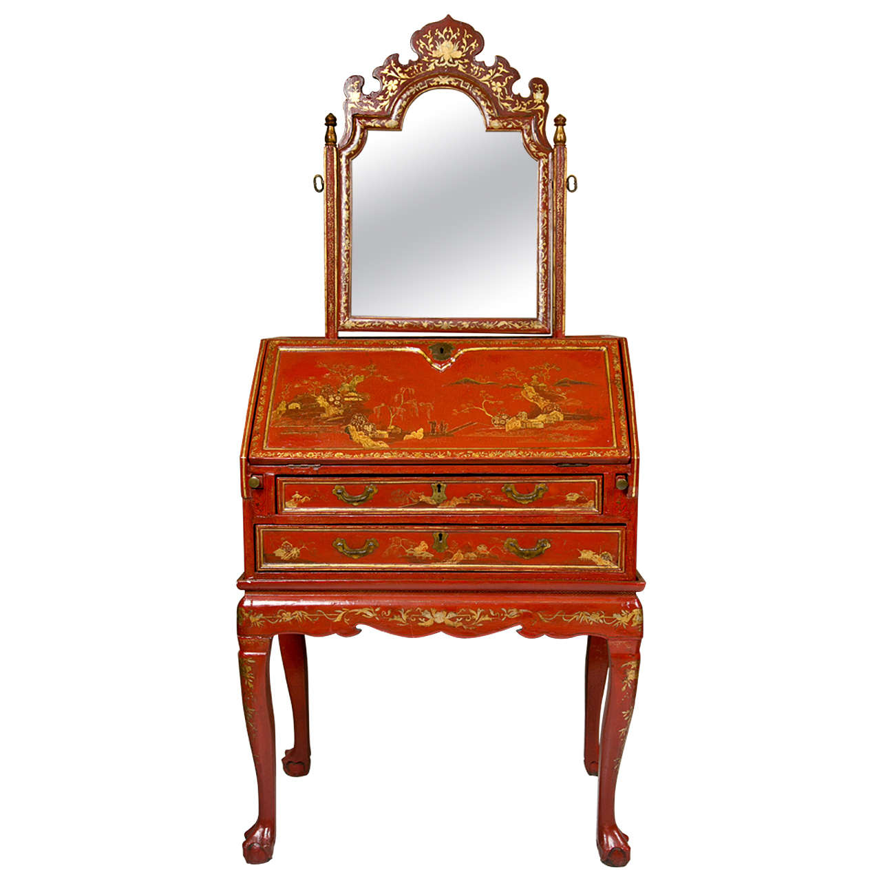 19th Century Painted Chinoiserie Desk