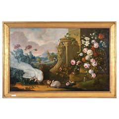 A Monumental Oil on Canvas Still life.