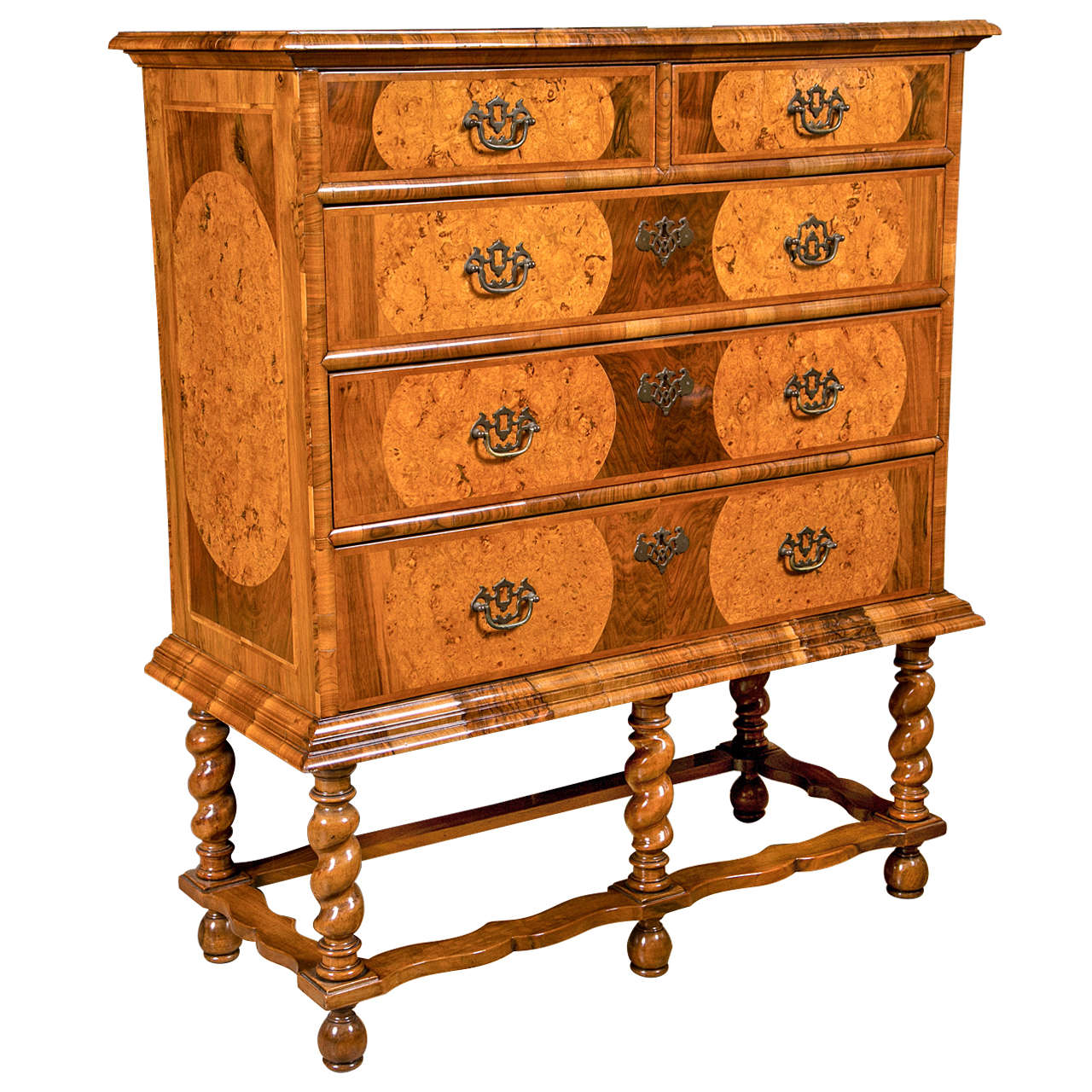 William And Mary Style Chest On Stand 1