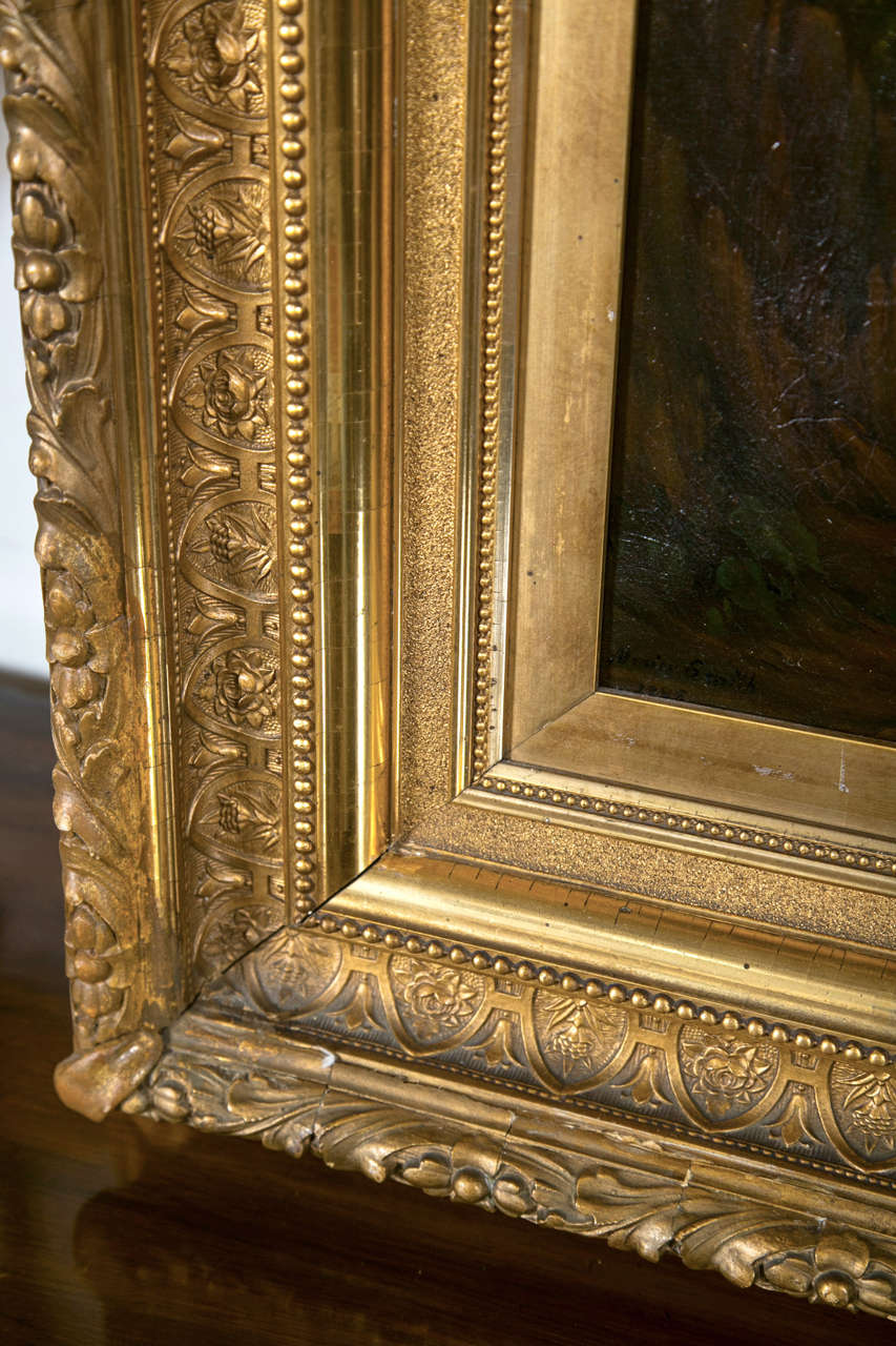 19th Century Oil on Canvas American by Enrico Smith For Sale 1
