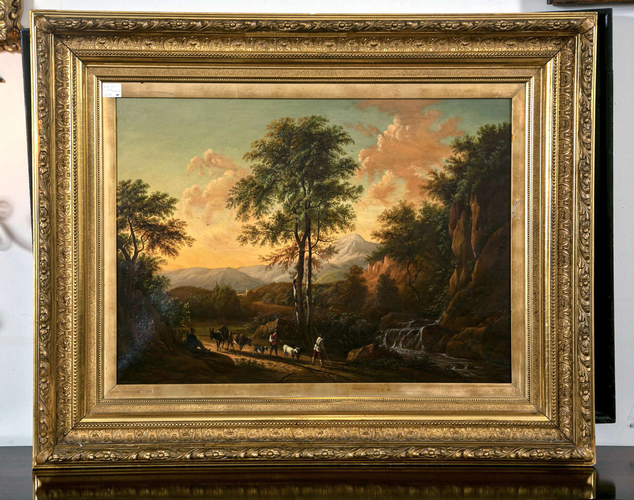 19th Century Oil on Canvas American by Enrico Smith For Sale 4
