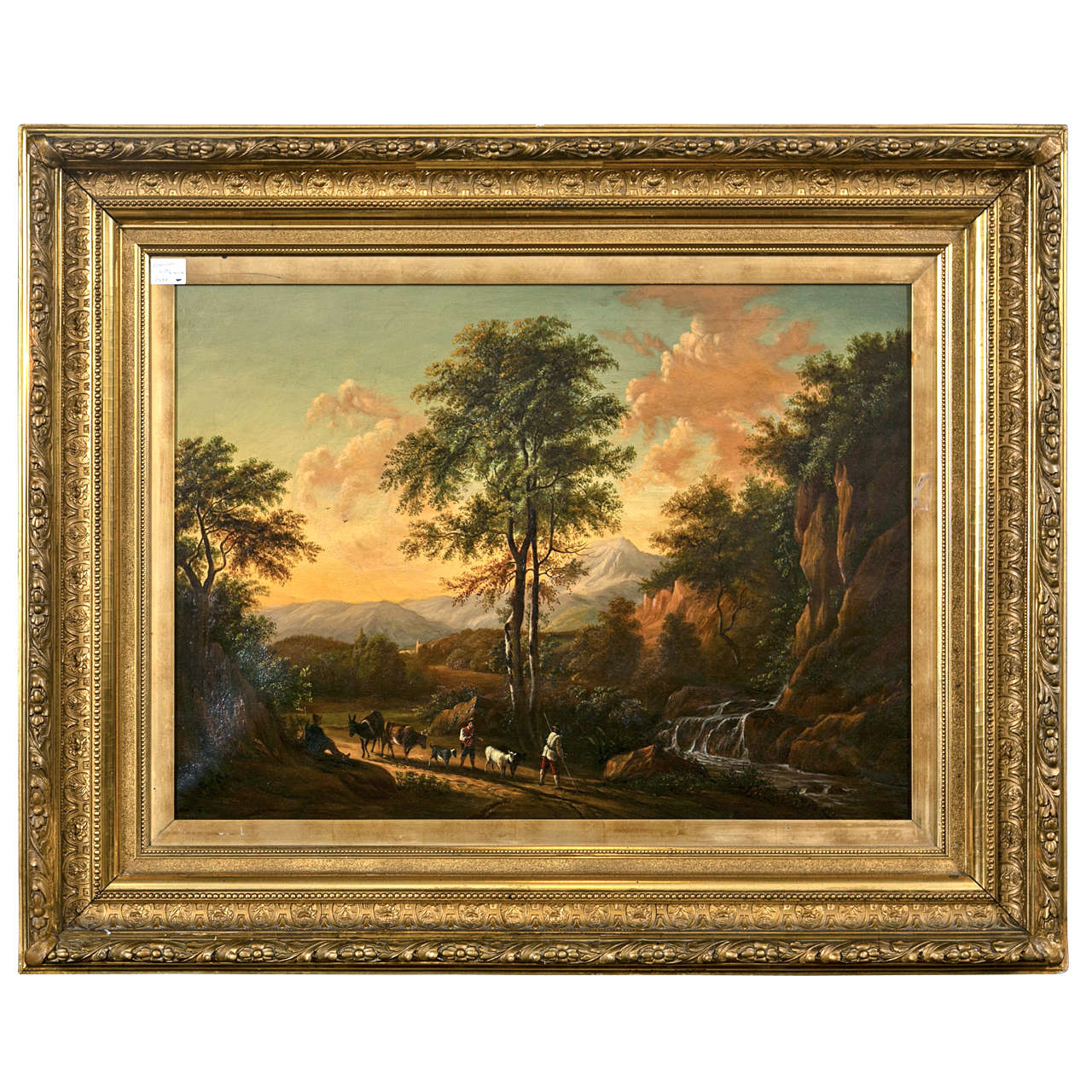 19th Century Oil on Canvas American by Enrico Smith For Sale