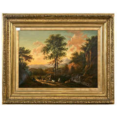 19th Century Oil on Canvas American by Enrico Smith
