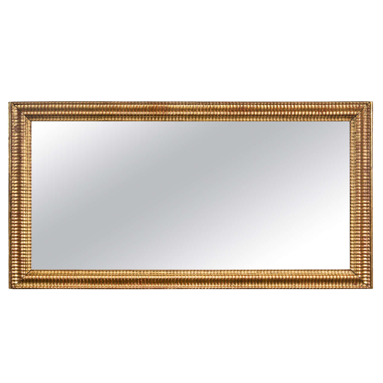 Gilt Gold Fluted Border Mirror