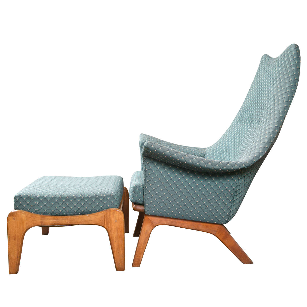 Danish Modern Lounge Chair and Stool Adrian Pearsall at 1stdibs