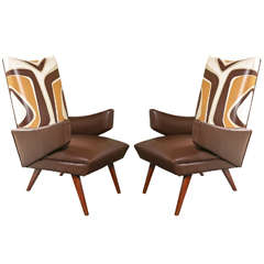 Pair of Mid-Century Leather Chairs