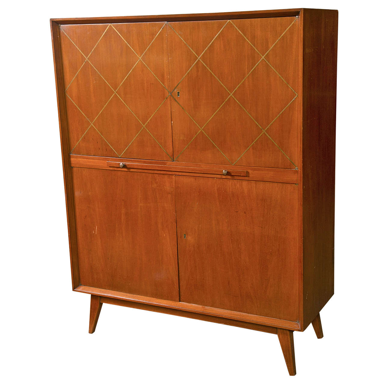 Danish modern mid century bar cabinet at 1stdibs - Contemporary bar cabinet on a small budget ...