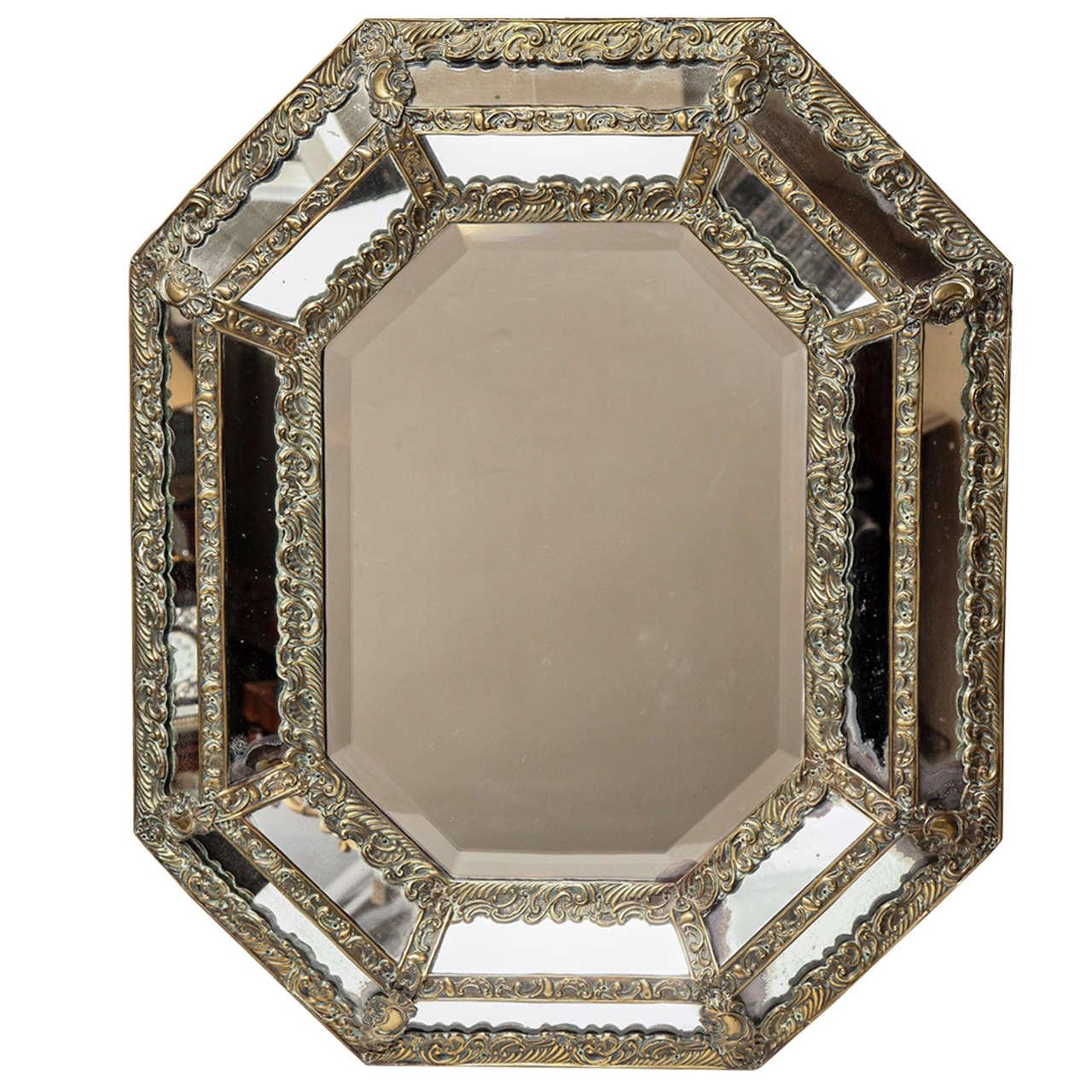 19th Century Flemish Marginal Mirror