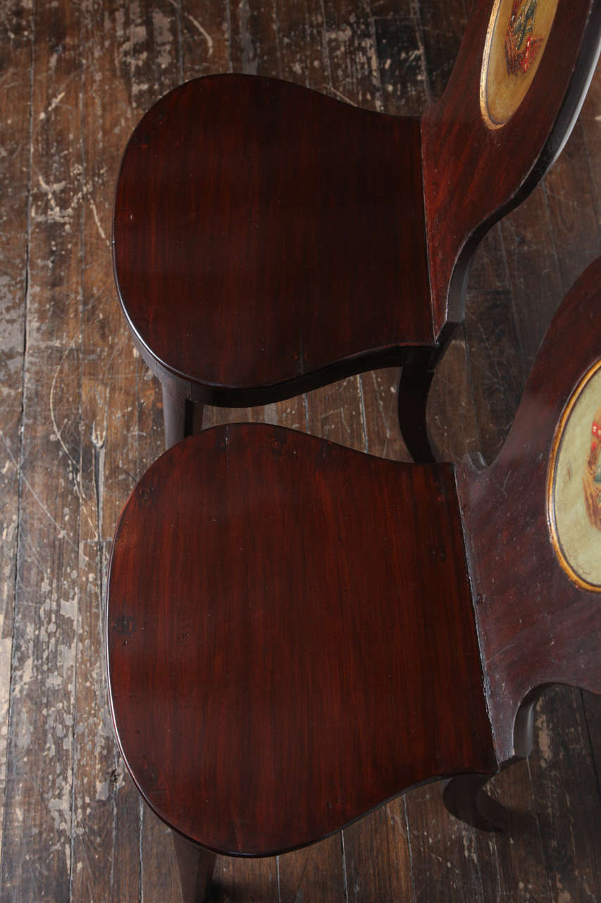 Pair of Early 19th Century, English Regency, Mahogany Hall Chairs  For Sale 2
