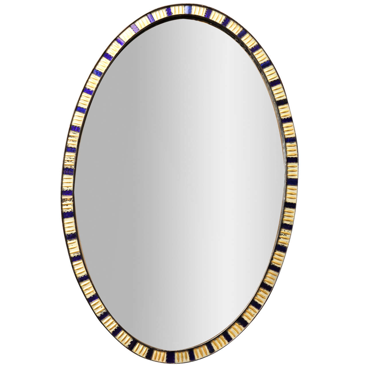 19th Century Irish Oval Lozenge Mirror