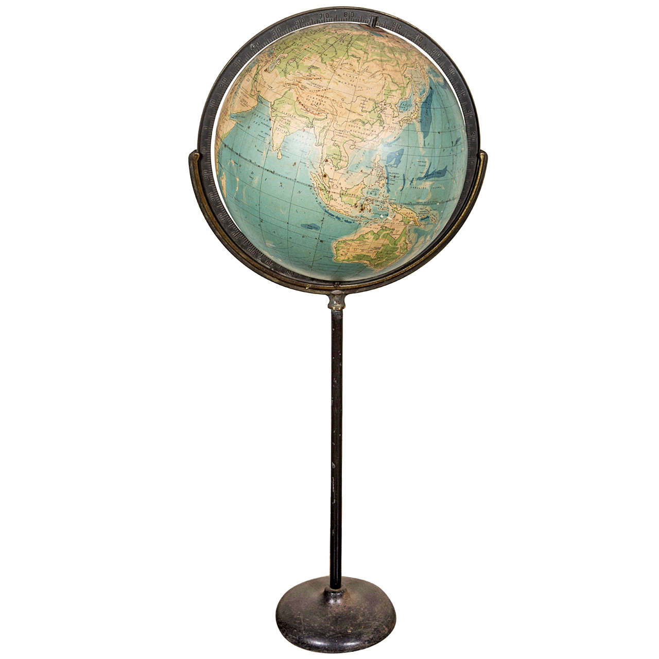 Old Steel Globe On Stand For Sale At 1stdibs
