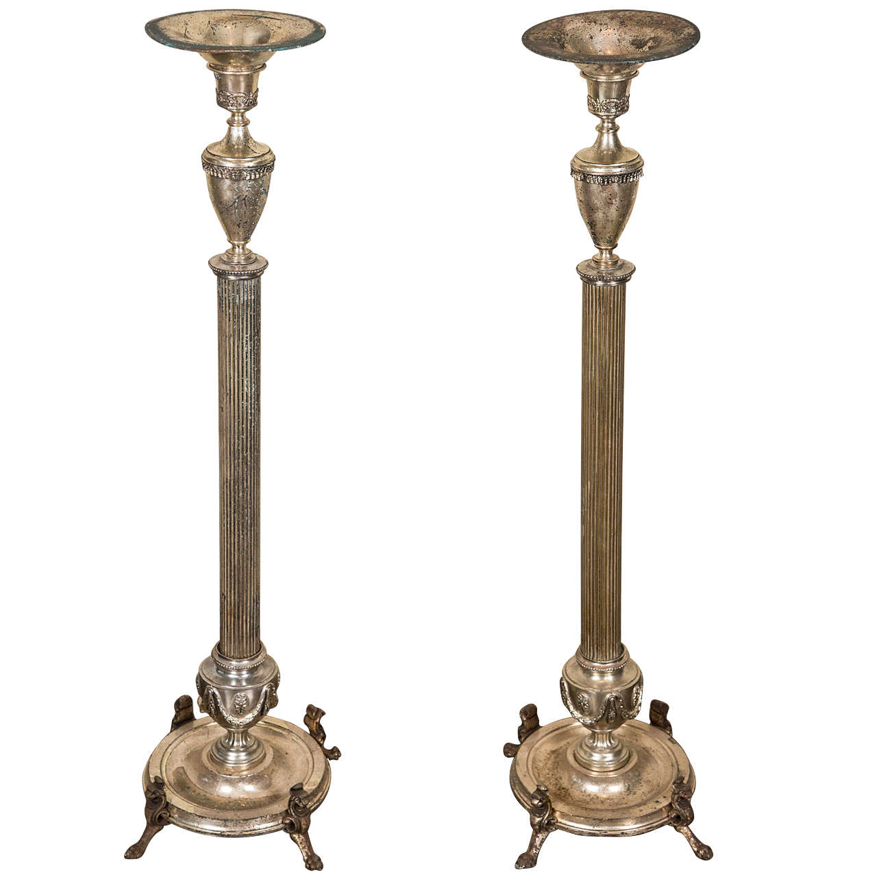 Silver Plated Bronze and Copper Candelabra