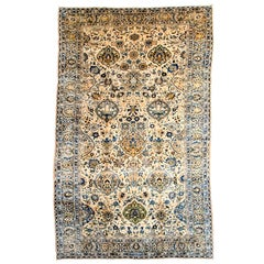 Persian Lavar Carpet with Pure Wool Pile and Natural Vegetable Dyes, circa 1910