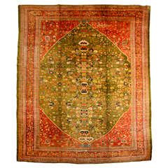 Persian Sultanabad Carpet in Handpsun Wool and Vegetable Dyes, circa 1880