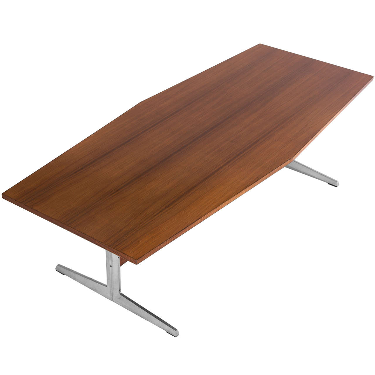 Rosewood dining table with aluminum frame for sale at 1stdibs for Dining table frame