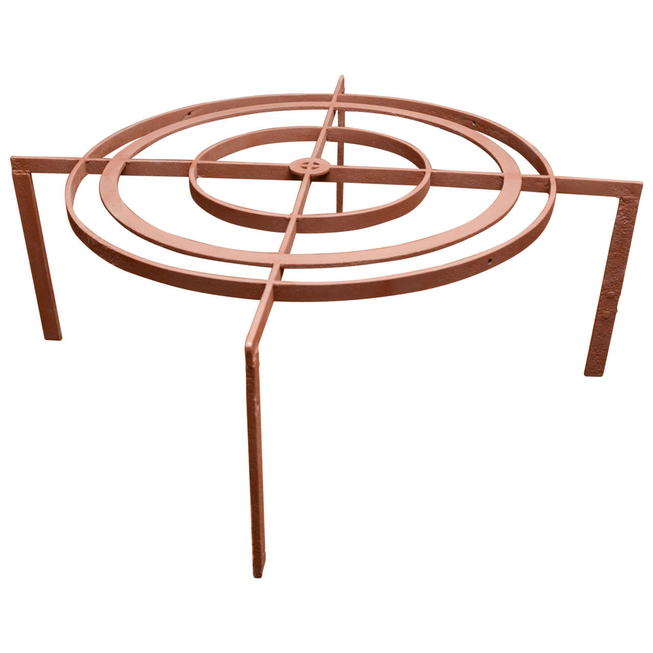 Iron Gate Coffee Table Turn Of The Century French Iron Gate In Concentric Circular Form