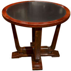 Early 20th Century Shanghai Deco Stone Inset Round Centre Table