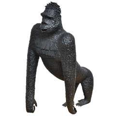 Brutalist Iron Silverback Sculpture