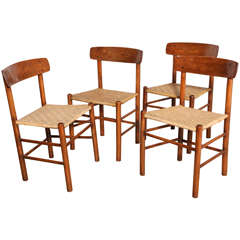 set of 4 Borge Mogensen Side Chairs