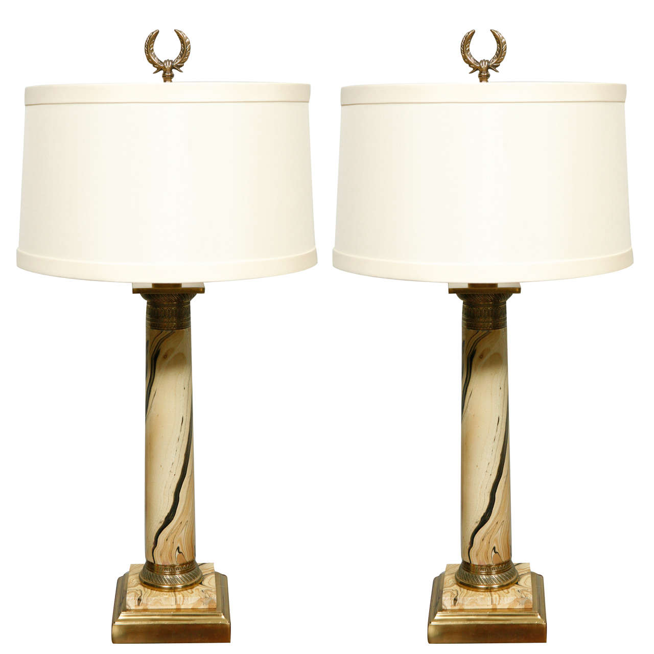 1920's French Pair of Table Lamps