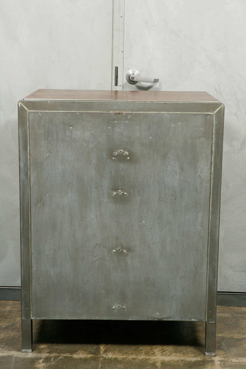 Art Modern Polished Metal Chest Of Drawers At 1stdibs