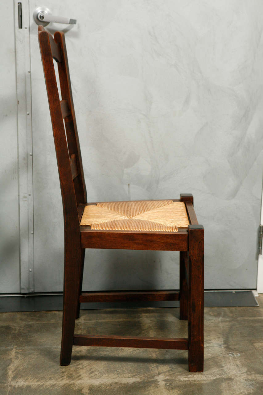 set 8 ladder back dining chairs at 1stdibs