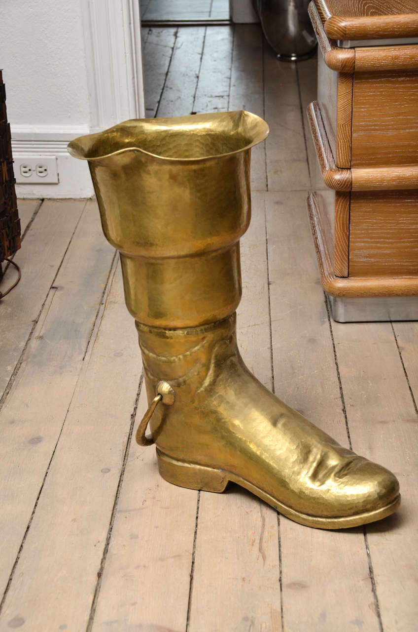 Brass Boot Umbrella Stand 2