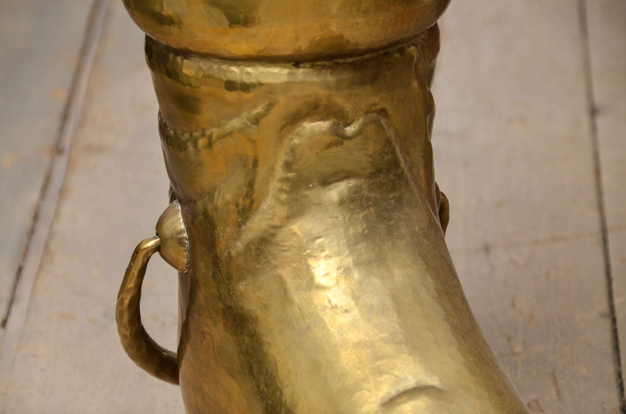 Brass Boot Umbrella Stand 8