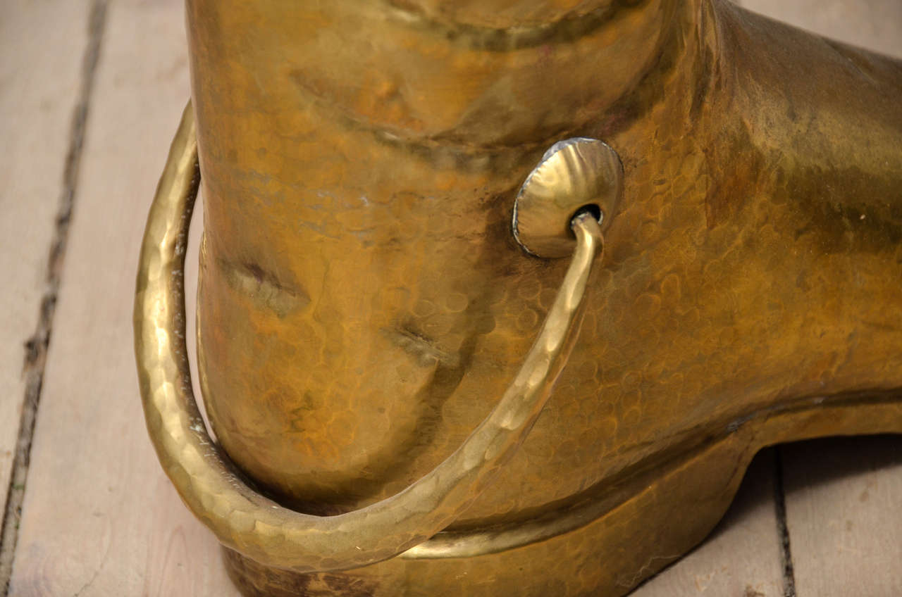 Brass Boot Umbrella Stand 9