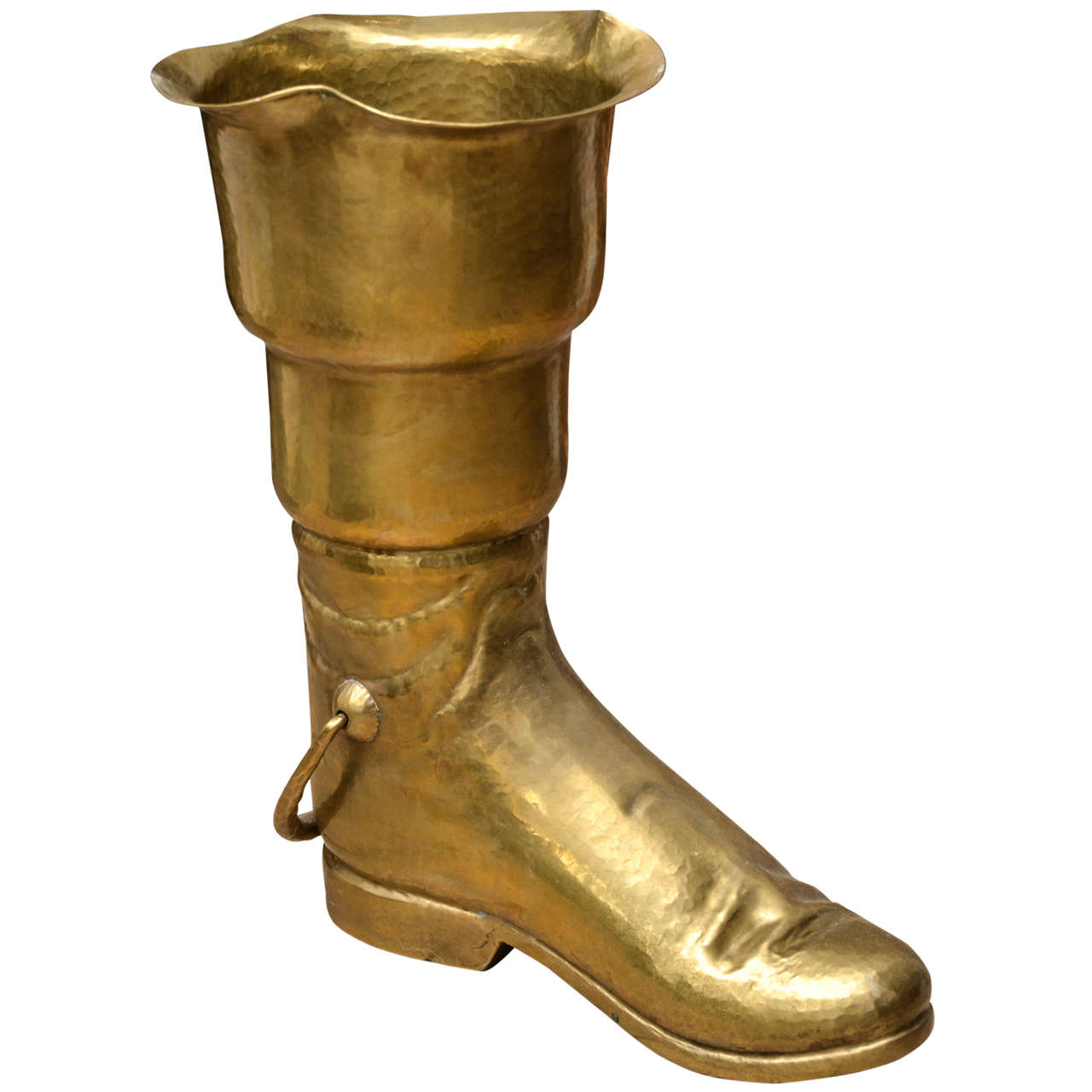 Brass Boot Umbrella Stand 1