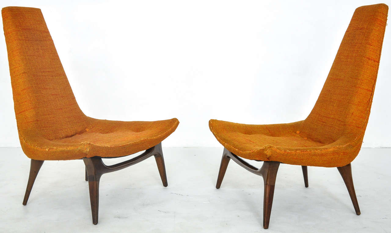High Back Lounge Chairs Karpen At 1stdibs