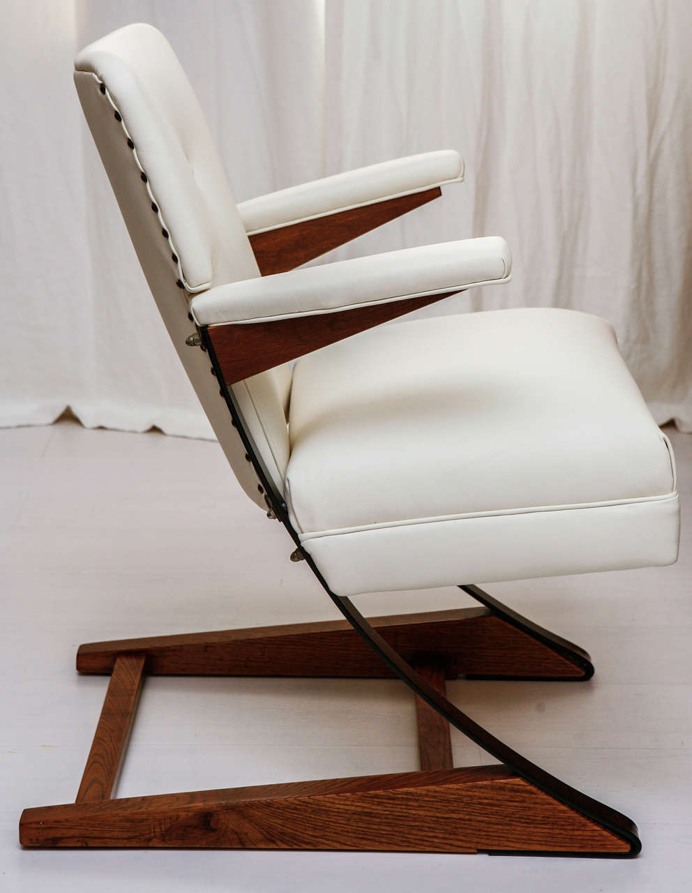 Leather McKay Cantilever Rocker For Sale
