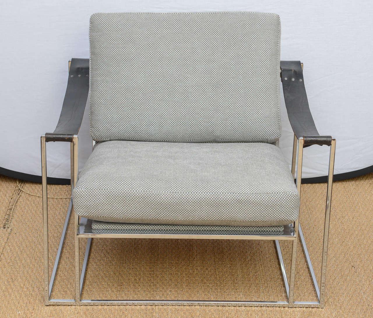 Milo Baughman Floating Lounge Chair Pair circa 1972 at 1stdibs