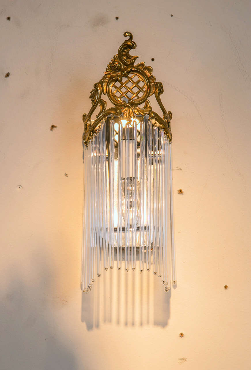 Pair of Art Nouveau Wall Sconces For Sale at 1stdibs