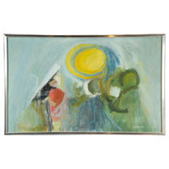 Artist Signed Abstract Painting, circa 1960