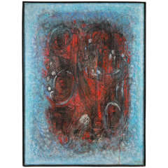 c. 1950 Signed Abstract Painting