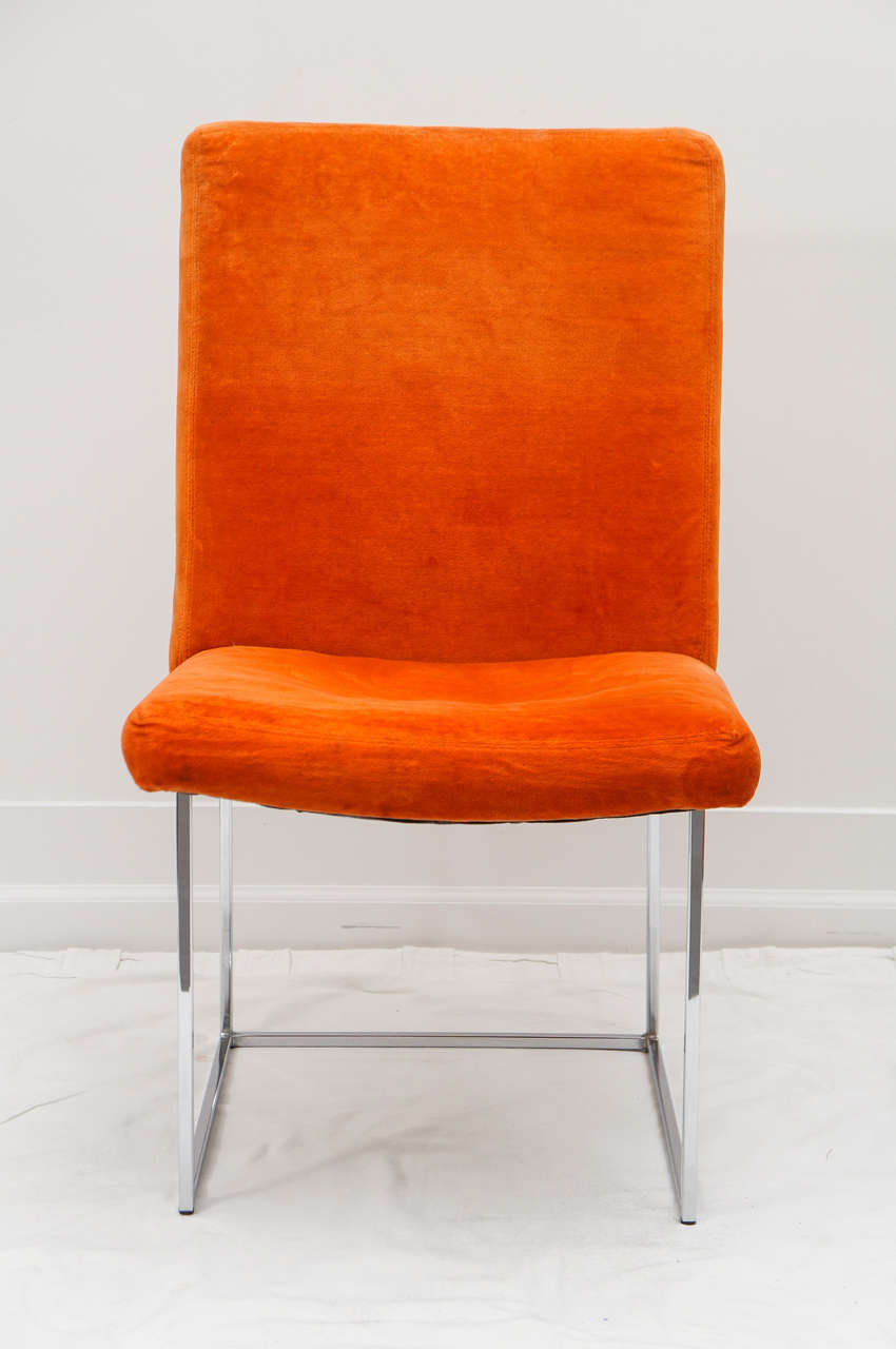 Always in style. You can pair these with any table, almost. orange is the new black. They look great as is, but this is original fabric, so an update is suggested. .